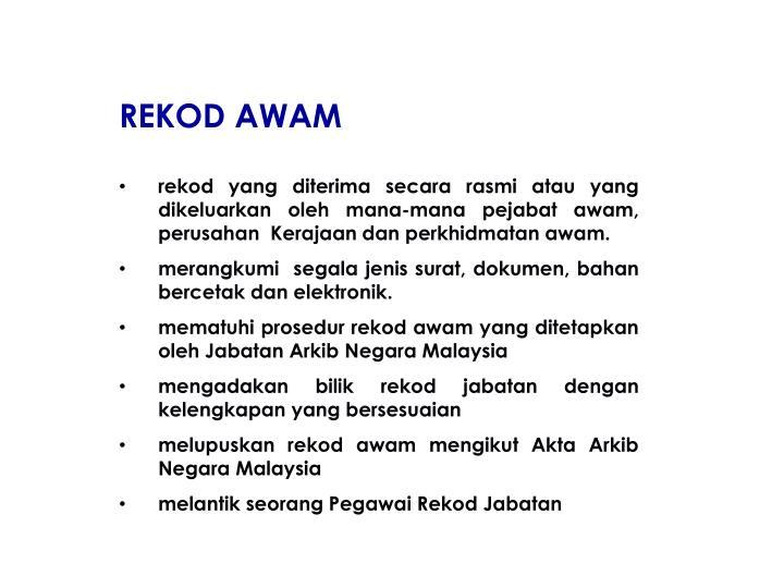 REKOD AWAM