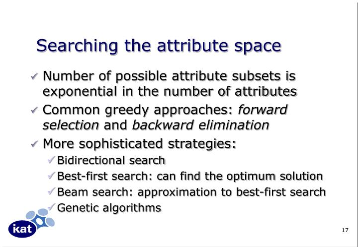 Searching the attribute space