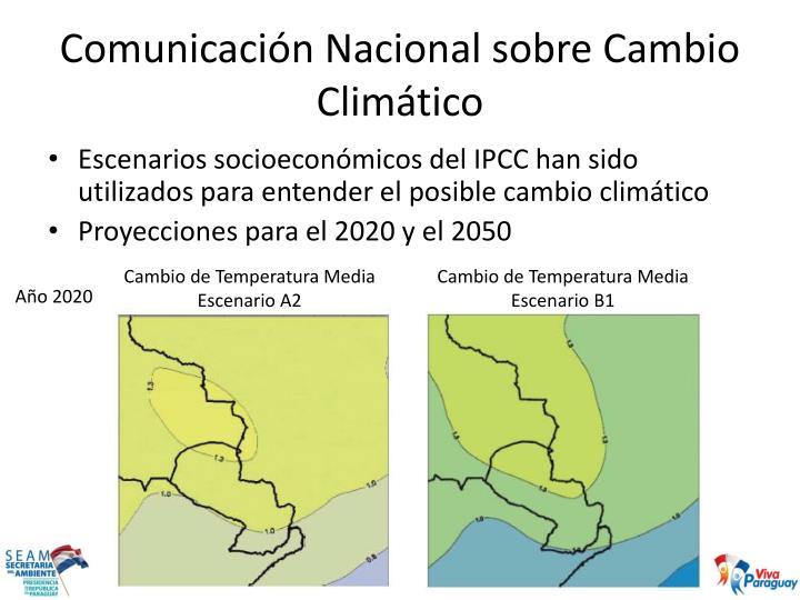 Comunicaci n nacional sobre cambio clim tico