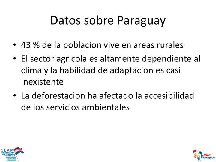Datos sobre paraguay