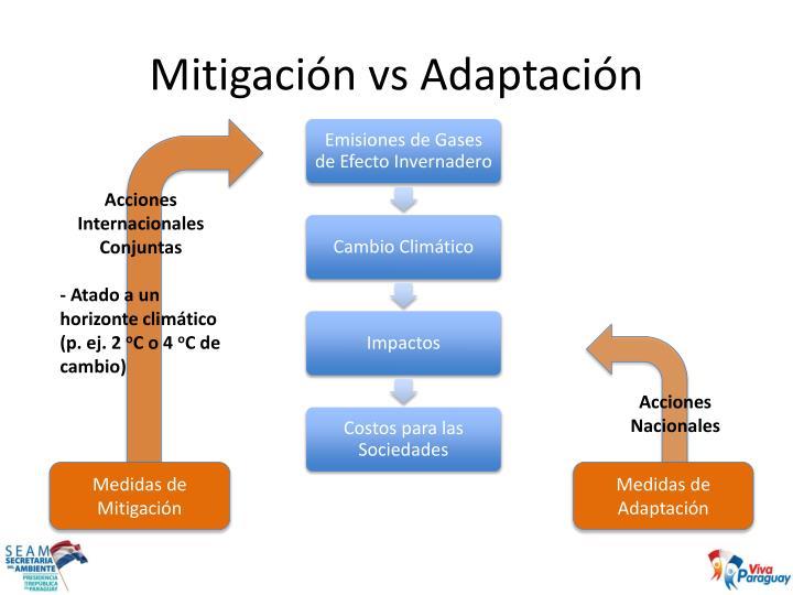 Mitigación vs Adaptación