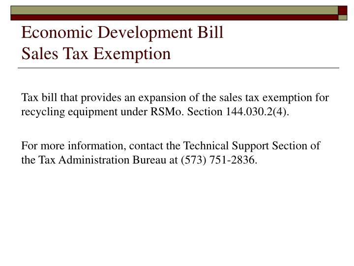 Economic Development Bill