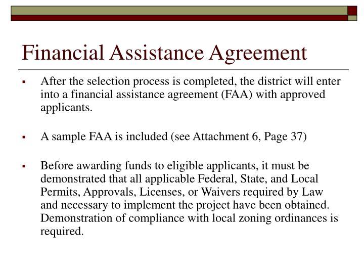 Financial Assistance Agreement