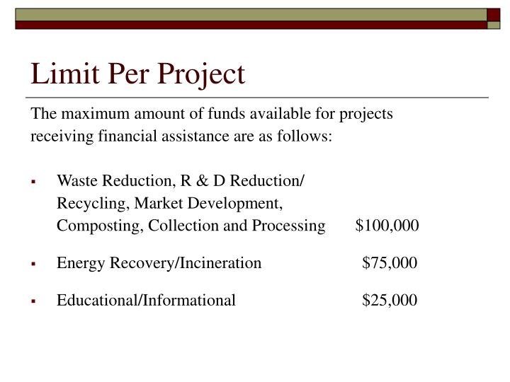 Limit Per Project