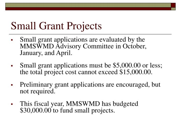 Small Grant Projects