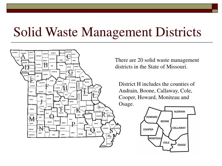 Solid Waste Management Districts