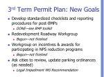 3 rd term permit plan new goals