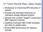 3 rd term permit plan new goals1