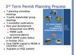 3 rd term permit planning process