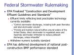 federal stormwater rulemaking