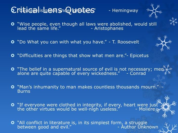 Critical Lens Quotes