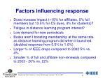 factors influencing response