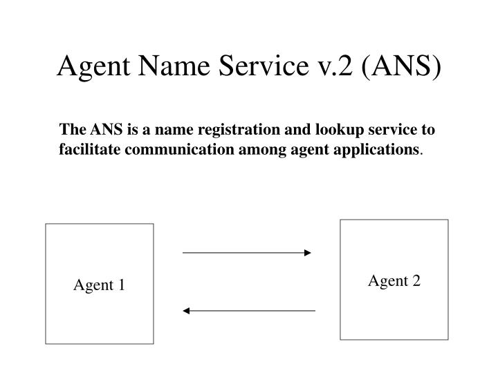 Agent name service v 2 ans