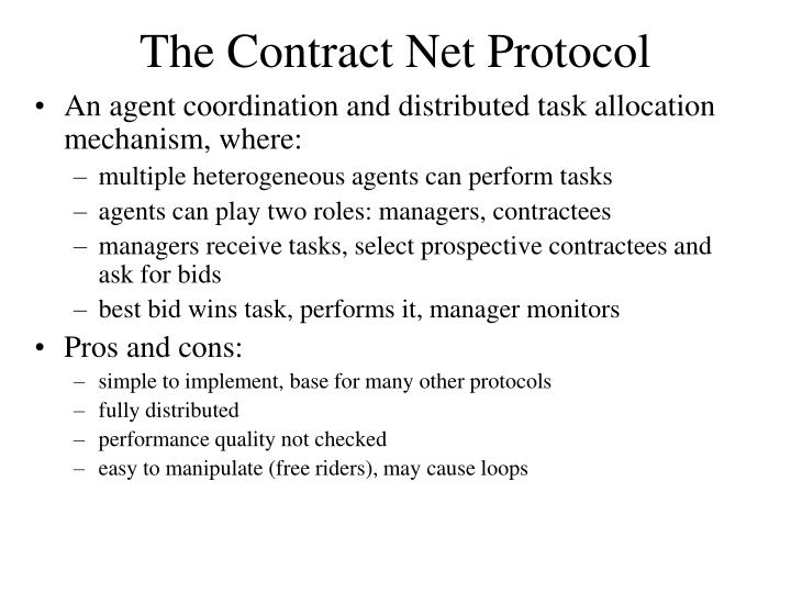 The Contract Net Protocol