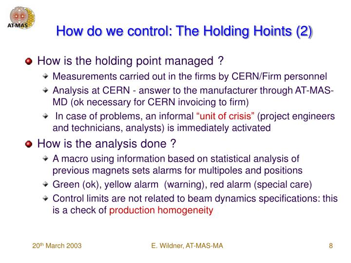 How do we control: The Holding Hoints (2)