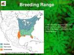 breeding range