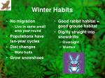 winter habits