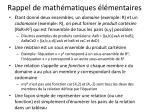 rappel de math matiques l mentaires