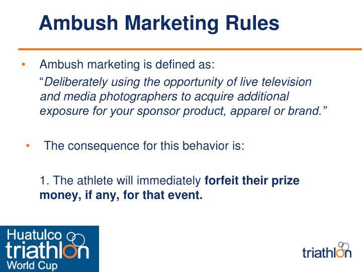 Ambush Marketing Rules