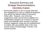 executive summary and strategic recommendations12