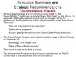 executive summary and strategic recommendations18