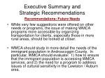 executive summary and strategic recommendations21