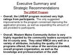 executive summary and strategic recommendations9
