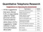 quantitative telephone research10