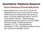 quantitative telephone research12