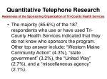 quantitative telephone research14