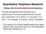 quantitative telephone research15