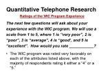 quantitative telephone research23