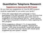 quantitative telephone research25