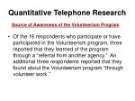 quantitative telephone research28