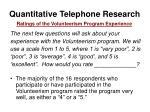 quantitative telephone research30