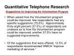 quantitative telephone research33