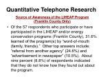 quantitative telephone research35