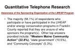 quantitative telephone research37