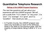 quantitative telephone research38