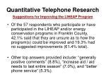 quantitative telephone research41