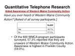 quantitative telephone research43