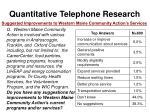 quantitative telephone research48
