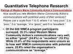 quantitative telephone research50