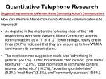 quantitative telephone research52
