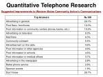 quantitative telephone research53