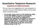 quantitative telephone research54