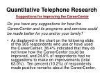 quantitative telephone research9