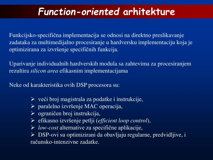 Function-oriented