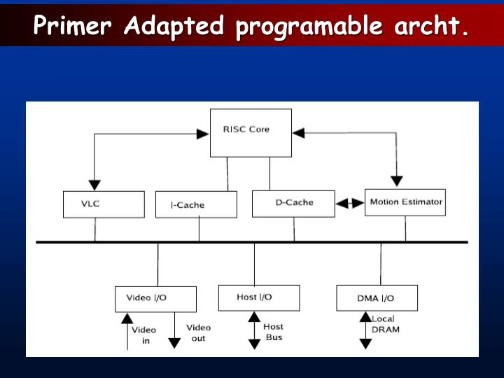 Primer Adapted programable archt.