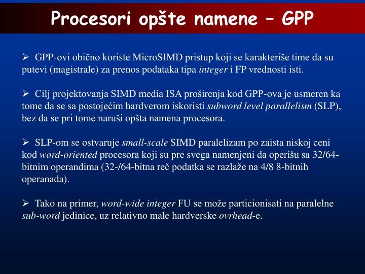 Procesori opšte namene – GPP